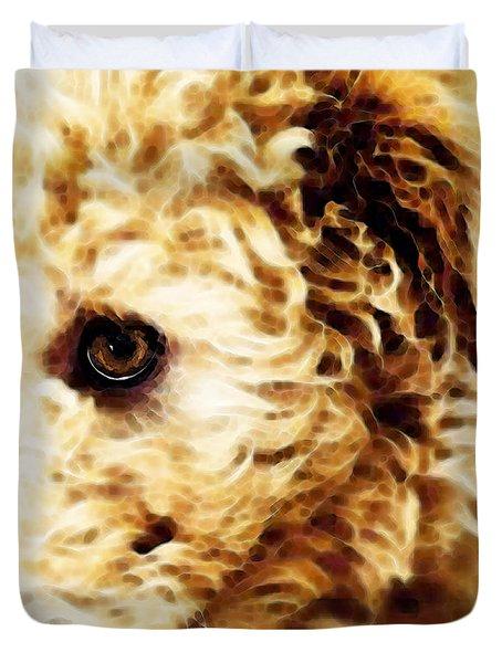 Labradoodle Dog Art - Doodle Bug Duvet Cover by Sharon Cummings