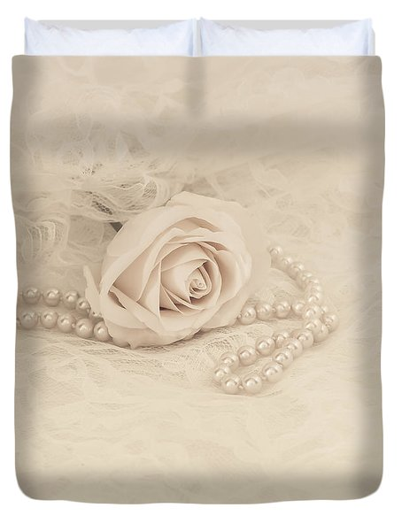Lace and Promises Duvet Cover by Kim Hojnacki