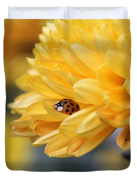 Lady Bug Duvet Cover by Adrienne Franklin