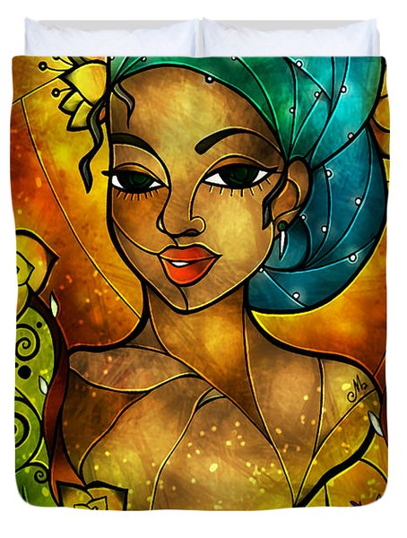 Lady Creole Duvet Cover by Mandie Manzano