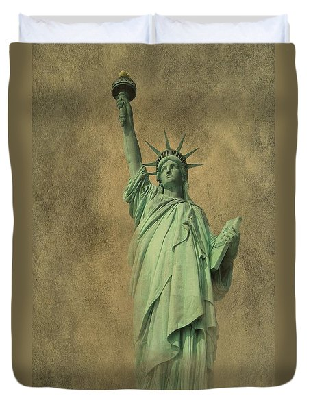 Lady Liberty New York Harbor Duvet Cover by David Dehner