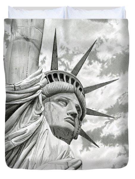 Lady Liberty  Duvet Cover by Sarah Batalka