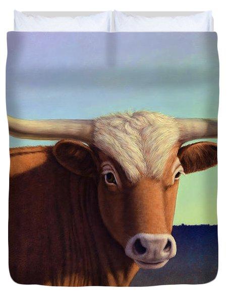 Lady Longhorn Duvet Cover by James W Johnson