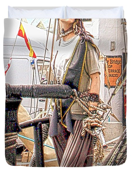 Lady Pirate of Penzance Duvet Cover by Terri  Waters