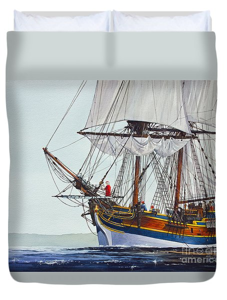 Lady Washington And Captain Gray Duvet Cover by James Williamson
