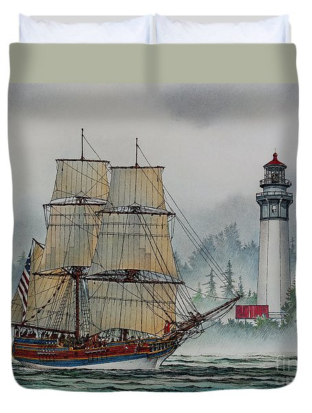 Lady Washington at Grays Harbor Duvet Cover by James Williamson