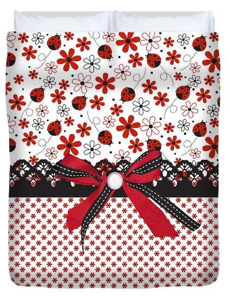 Ladybug Whisper  Duvet Cover by Debra  Miller