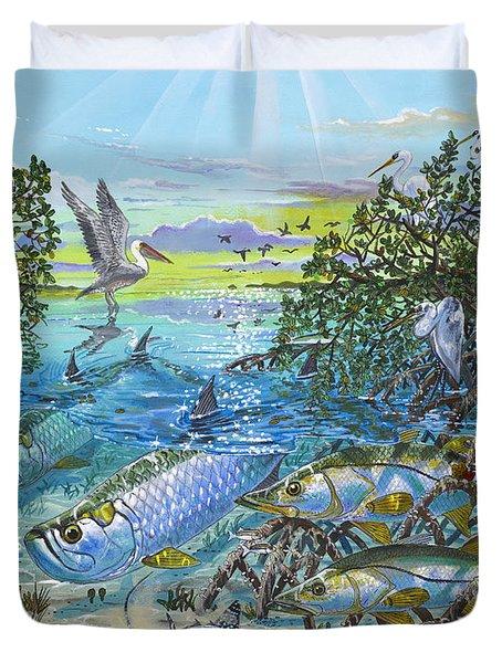 Lagoon Duvet Cover by Carey Chen