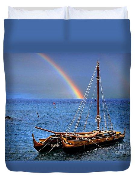 Lahaina Harbor Duvet Cover by DJ Florek