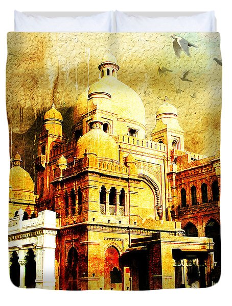 Lahore Museum Duvet Cover by Catf