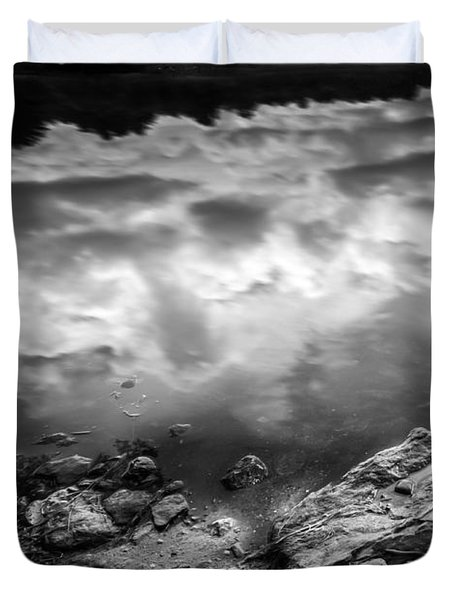 Lake Auburn Twilight Duvet Cover by Bob Orsillo