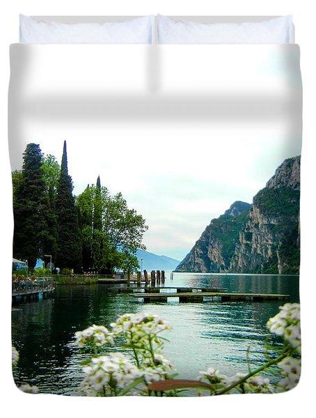 Lake Garda Duvet Cover by Mariola Bitner
