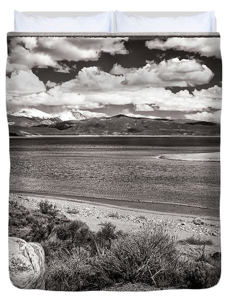 Lake Granby Duvet Cover by Joan Carroll