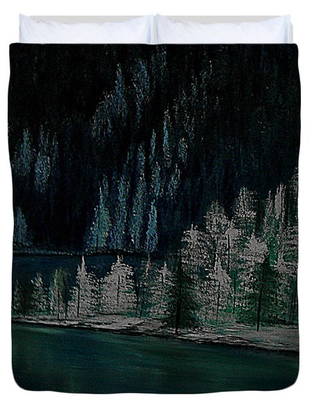 Lake Of The Woods Duvet Cover by Barbara St Jean