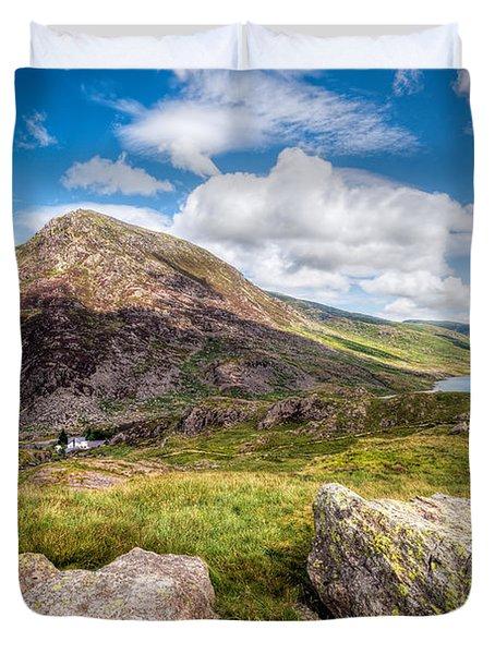 Lake Ogwen Duvet Cover by Adrian Evans