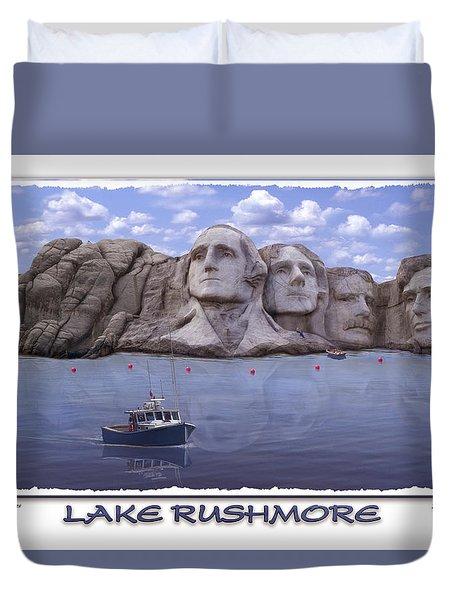 Lake Rushmore Duvet Cover by Mike McGlothlen