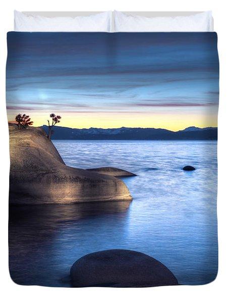 Lake Tahoe Bonsai Rock Duvet Cover by Dianne Phelps