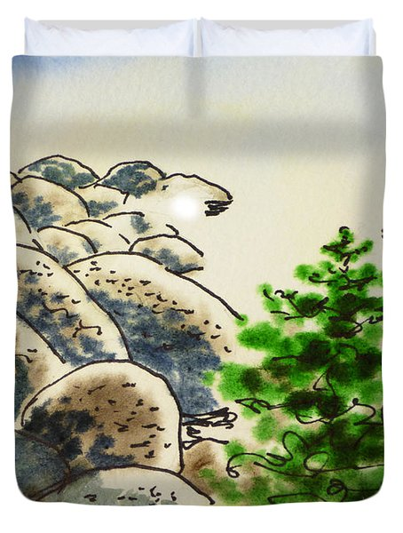 Lake Tahoe - California Sketchbook Project Duvet Cover by Irina Sztukowski