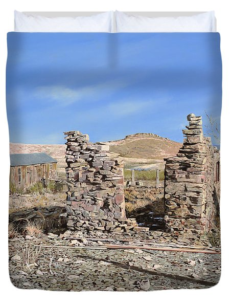 Lake Valley-new Mexico  Duvet Cover by Guido Borelli