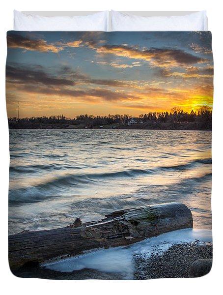 Lake Yankton Minnesota Duvet Cover by Aaron J Groen