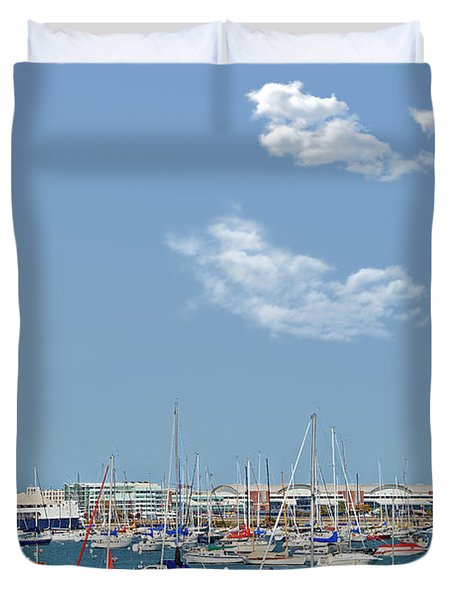 Lakefront Chicago Duvet Cover by Christine Till