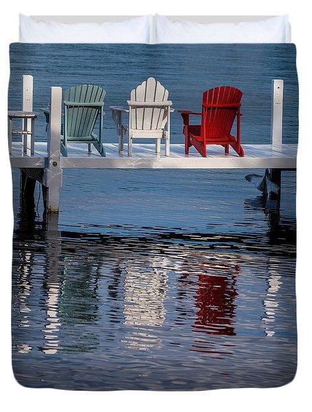 Lakeside Living Number 2 Duvet Cover by Steve Gadomski