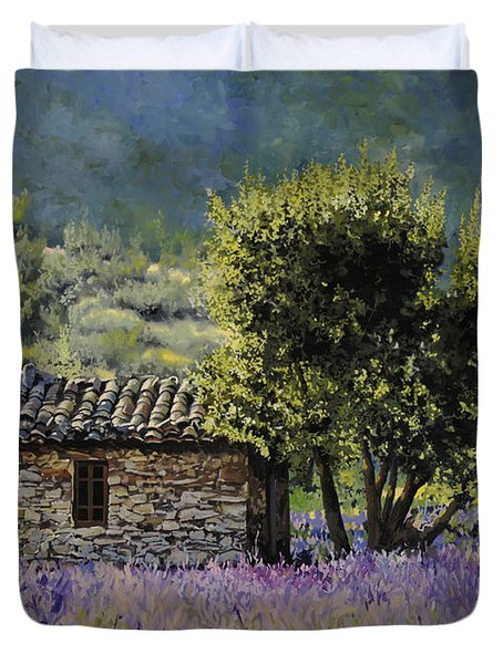 lala vanda Duvet Cover by Guido Borelli