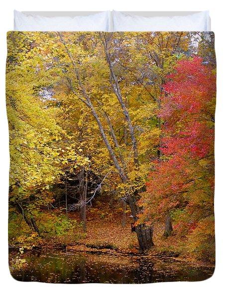 Lamprey In Fall Duvet Cover by Eunice Miller