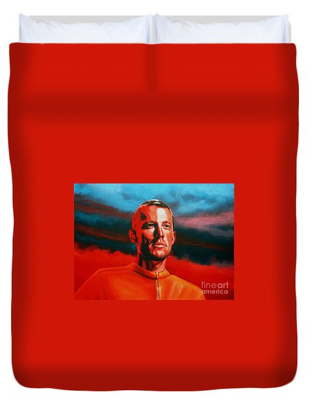 Lance Armstrong Duvet Cover by Paul Meijering