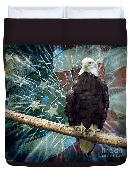 Land Of The Free Duvet Cover by Terry Weaver
