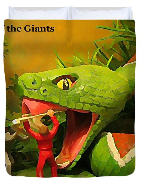 Land Of The Giants Duvet Cover by John Malone