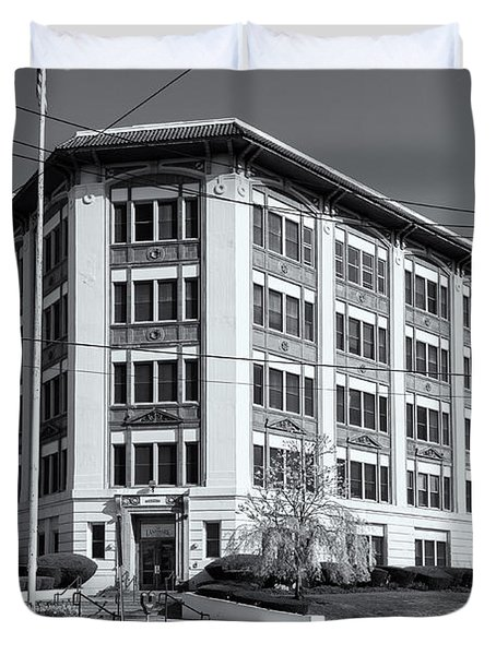 Landmark Life Savers Building II Duvet Cover by Clarence Holmes