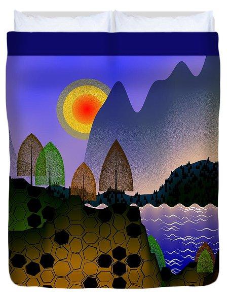 Landscape Duvet Cover by GuoJun Pan