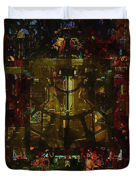 Landscape Of Hell Duvet Cover by RC DeWinter