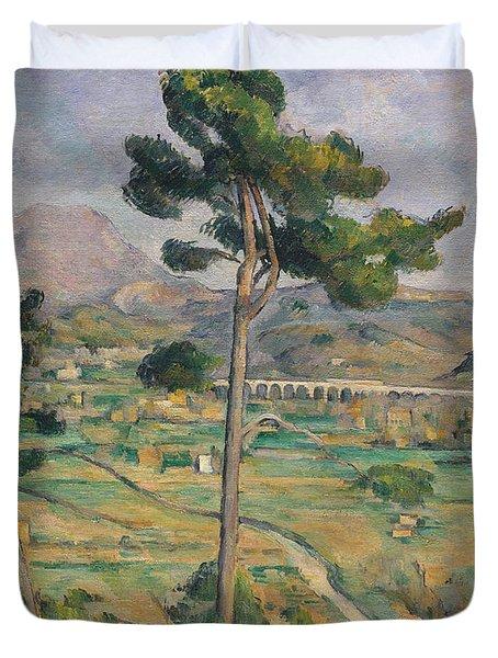 Landscape With Viaduct Duvet Cover by Paul Cezanne
