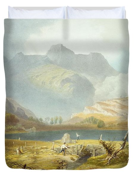 Langdale Pikes, From The English Lake Duvet Cover by James Baker Pyne