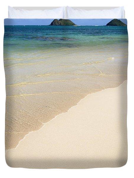 Lanikai And Mokulua Islands Duvet Cover by Brandon Tabiolo
