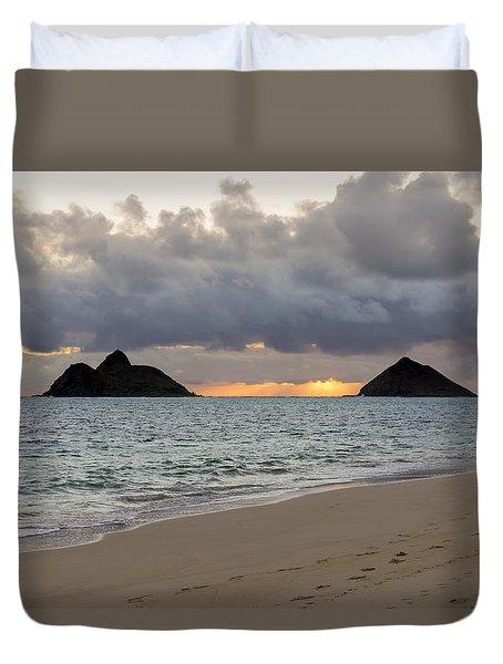 Lanikai Beach Sunrise 4 - Kailua Oahu Hawaii Duvet Cover by Brian Harig