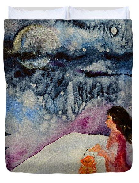 Lantern Festival Duvet Cover by Beverley Harper Tinsley