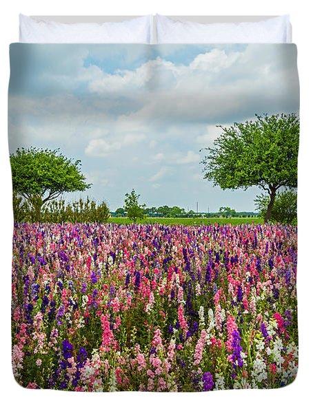 Larkspur Fields Forever Duvet Cover by Lynn Bauer