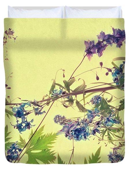 Larkspur Duvet Cover by Priska Wettstein