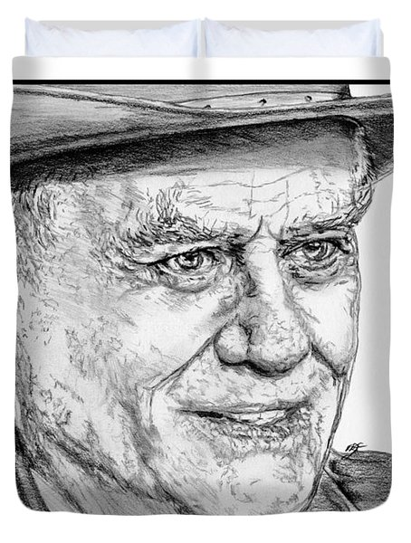 Larry Hagman In 2011 Duvet Cover by J McCombie