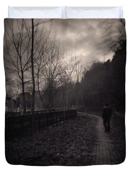 Last Alone Duvet Cover by Taylan Soyturk