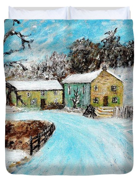 Last Days Of Winter Duvet Cover by Mauro Beniamino Muggianu