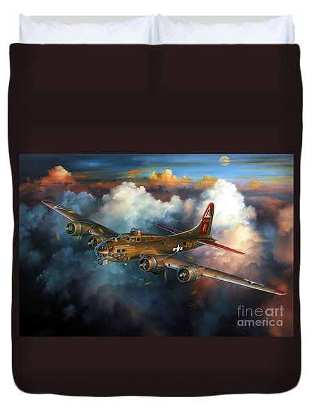 Last Flight For Nine-o-nine Duvet Cover by Randy Green