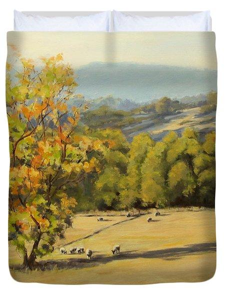 Last Rays Duvet Cover by Karen Ilari