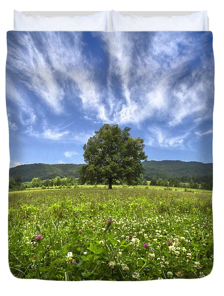 Last Tree Duvet Cover by Debra and Dave Vanderlaan