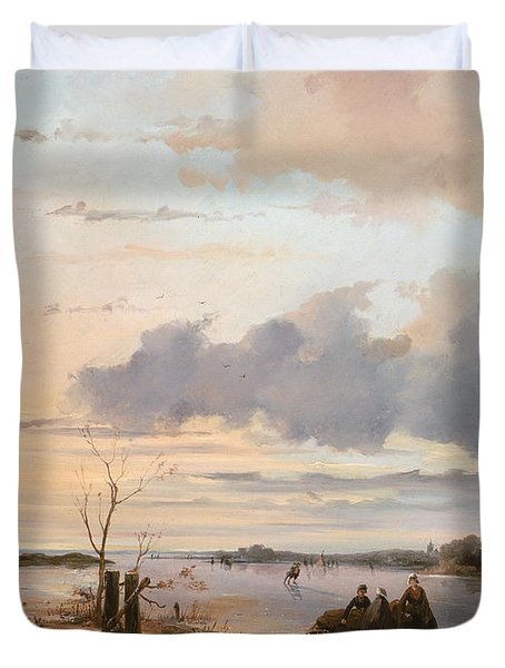 Late Winter In Holland Duvet Cover by Nicholas Jan Roosenboom