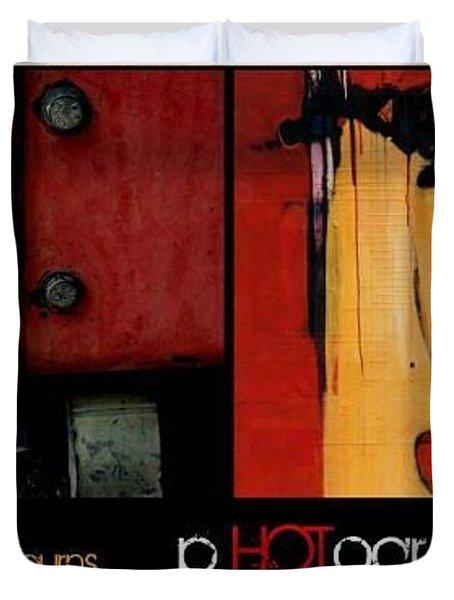 Latest Book Duvet Cover by Marlene Burns