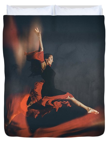 latin dancer Duvet Cover by Stylianos Kleanthous